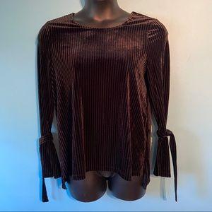 Nanette Leopore black velvet blouse
